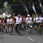 Rai Mantra Bersepeda Sosialisasikan Diet Plastik